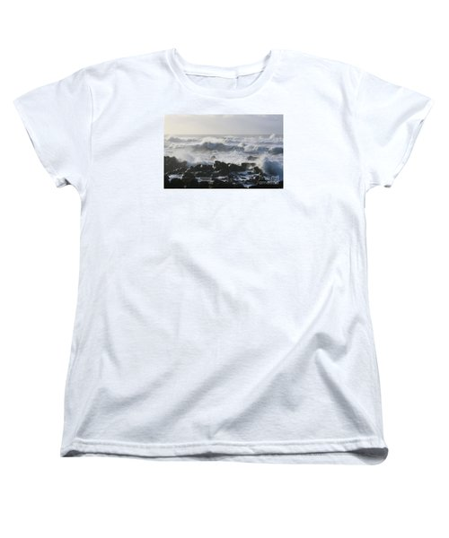Women's T-Shirt (Standard Cut) featuring the photograph Winter Sea by Jeanette French