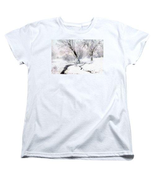 Winter Trees Women's T-Shirt (Standard Cut) by Francesa Miller