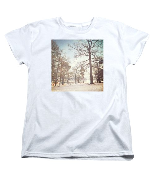 Women's T-Shirt (Standard Cut) featuring the photograph Winter Trees by Lyn Randle