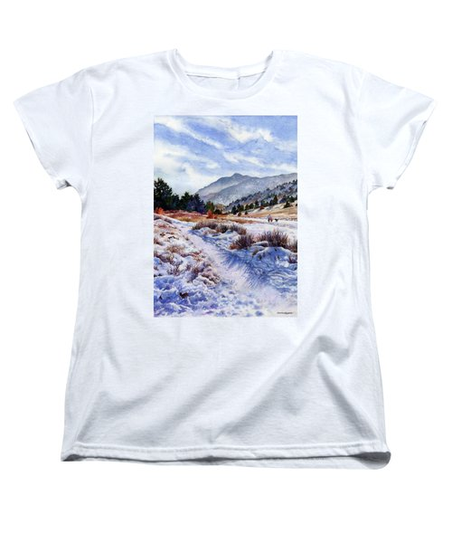 Women's T-Shirt (Standard Cut) featuring the painting Winter Wonderland by Anne Gifford