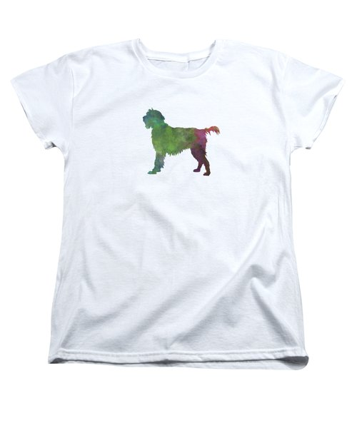Wirehaired Pointing Griffon Korthals In Watercolor Women's T-Shirt (Standard Cut) by Pablo Romero