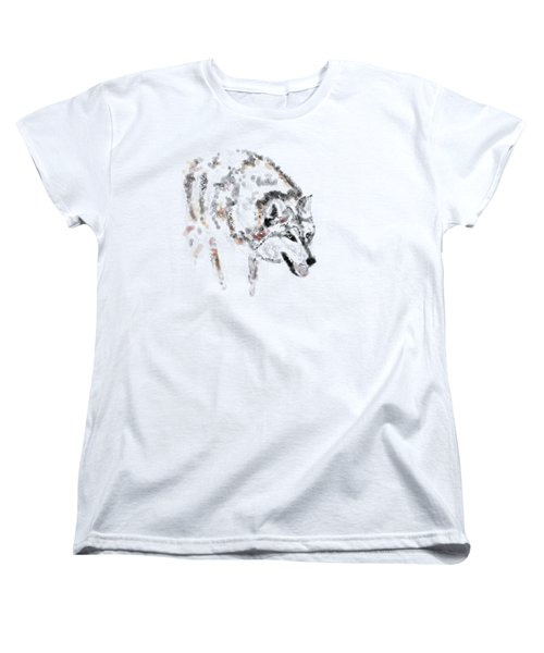 Wolf Women's T-Shirt (Standard Cut) by Barbara Moignard