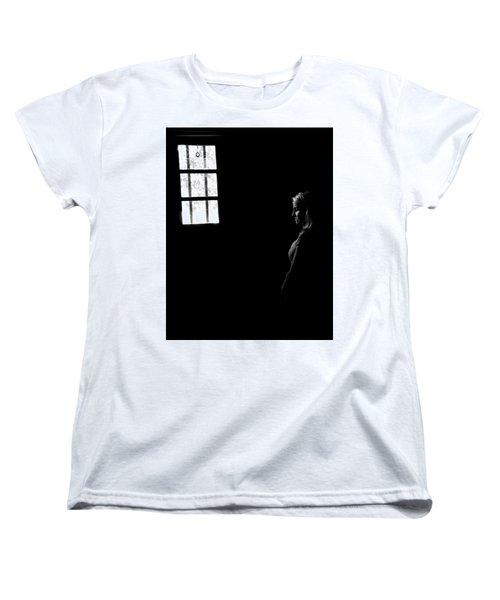 Woman In The Dark Room Women's T-Shirt (Standard Cut) by Ralph Vazquez