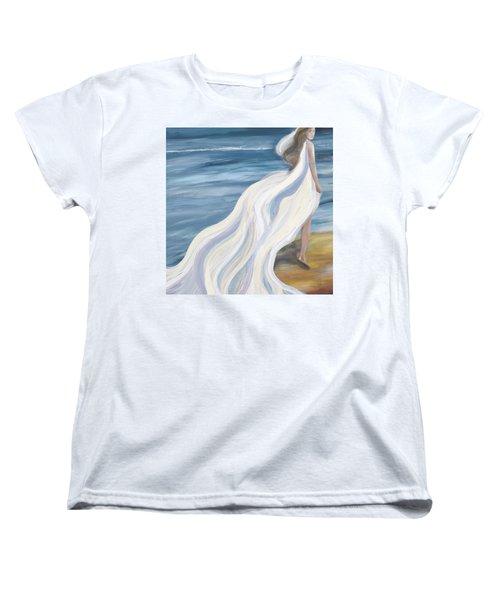Woman Strolling On The Beach Women's T-Shirt (Standard Cut)