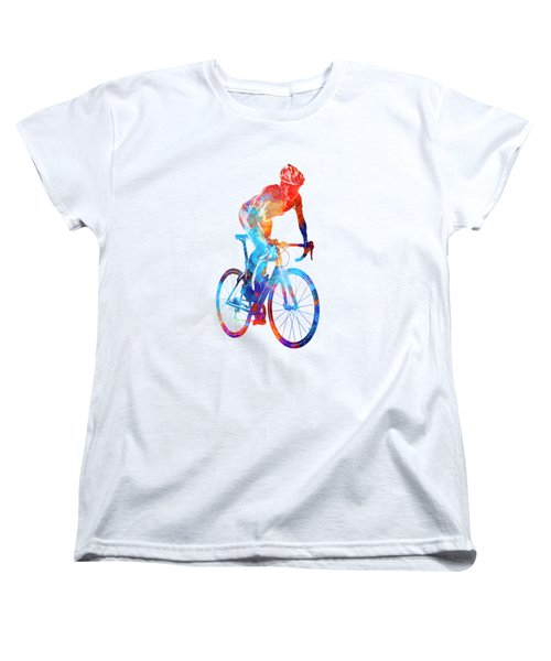 Woman Triathlon Cycling 06 Women's T-Shirt (Standard Cut) by Pablo Romero