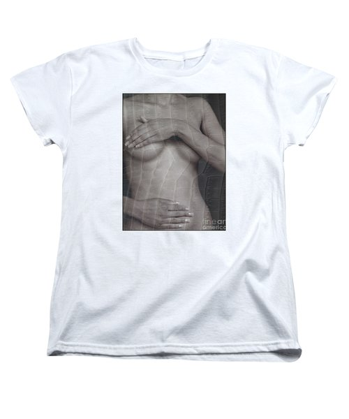 Woman With Hands On Breasts Women's T-Shirt (Standard Cut) by Michael Edwards