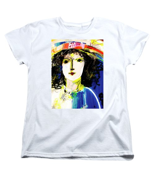 Woman With Party Hat Women's T-Shirt (Standard Cut)