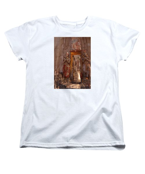 Women's T-Shirt (Standard Cut) featuring the digital art Wonders Door To The Luxor by Te Hu