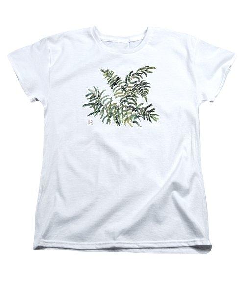 Woodland Maiden Fern Women's T-Shirt (Standard Cut) by Laurie Rohner