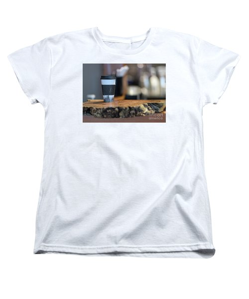 Women's T-Shirt (Standard Cut) featuring the photograph Woods Coffee by Jim  Hatch
