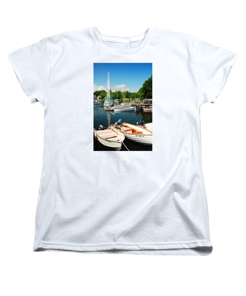 Women's T-Shirt (Standard Cut) featuring the photograph Woods Hole Harbor by James Kirkikis