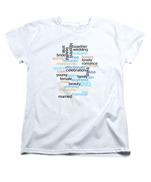 Words Of Love Women's T-Shirt (Standard Cut) by Bill Cannon