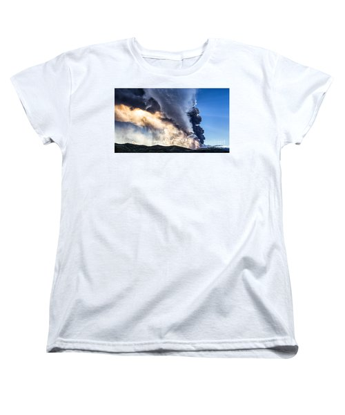 Wrath Of Nature Women's T-Shirt (Standard Cut) by Giuseppe Torre