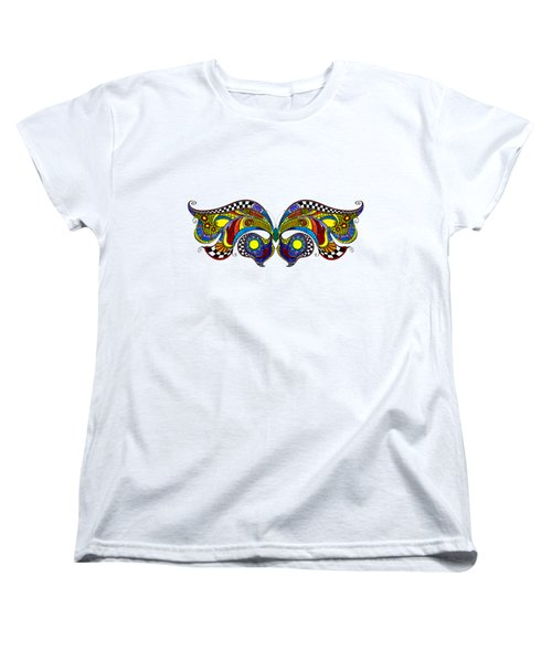 Chrysalis Women's T-Shirt (Standard Cut) by Dar Freeland