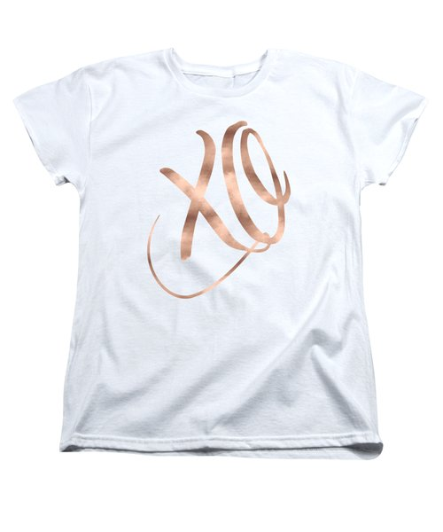 Xo, Rose Gold Women's T-Shirt (Standard Fit)