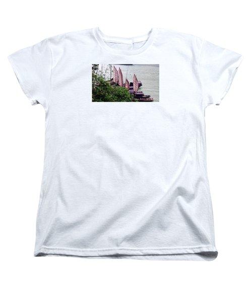 Yangtze Boats Women's T-Shirt (Standard Cut) by Vicky Tarcau