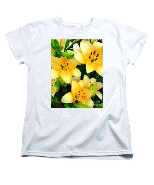 Women's T-Shirt (Standard Cut) featuring the photograph Yellow Lilies 3 by Randall Weidner