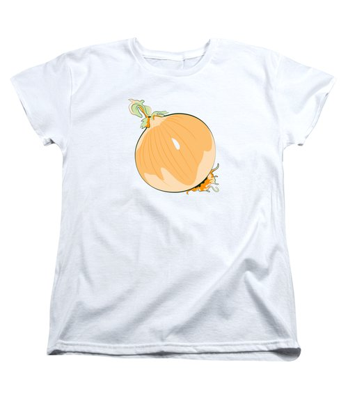 Women's T-Shirt (Standard Cut) featuring the digital art Yellow Onion by MM Anderson
