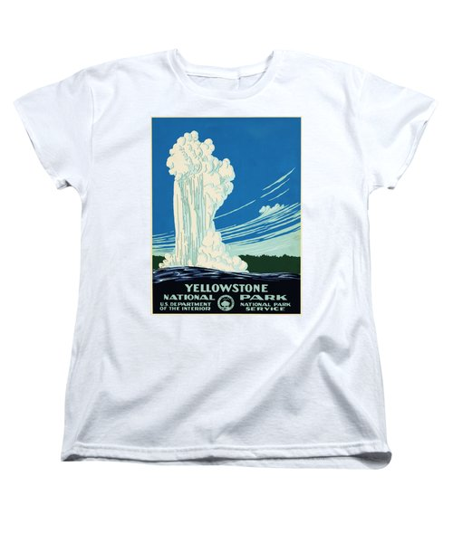 Yellow Stone Park - Vintage Travel Poster Women's T-Shirt (Standard Cut) by Ipa