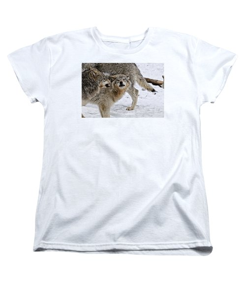Women's T-Shirt (Standard Cut) featuring the photograph Yes Dear by Michael Cummings