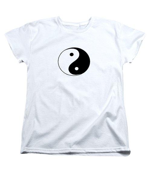 Yin And Yang Women's T-Shirt (Standard Cut) by Pat Cook