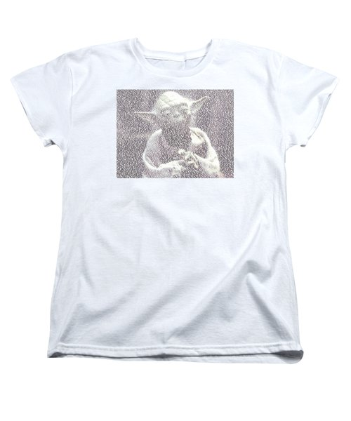 Yoda Quotes Mosaic Women's T-Shirt (Standard Cut) by Paul Van Scott