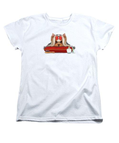 Yorkie Beauty Women's T-Shirt (Standard Cut) by Catia Cho
