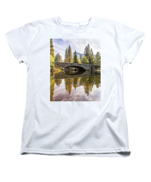 Yosemite Reflections Women's T-Shirt (Standard Cut) by Alpha Wanderlust