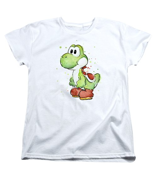 Yoshi Watercolor Women's T-Shirt (Standard Cut) by Olga Shvartsur