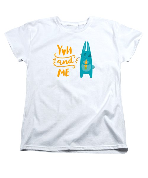 You And Me Bunny Rabbit Women's T-Shirt (Standard Cut) by Edward Fielding