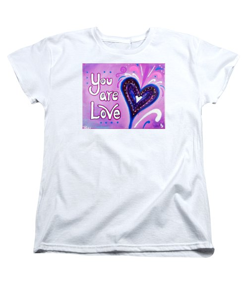 You Are Love Purple Heart Women's T-Shirt (Standard Cut) by Bob Baker and Pooki Lee