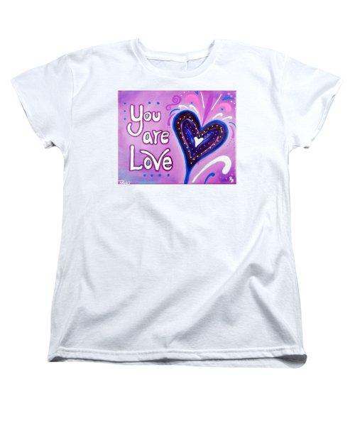 You Are Love Purple Heart Women's T-Shirt (Standard Cut)