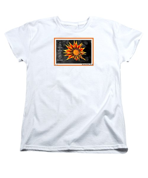 Women's T-Shirt (Standard Cut) featuring the digital art You Are Not Worthless by Holley Jacobs