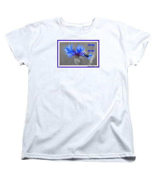 Women's T-Shirt (Standard Cut) featuring the digital art You Can Get Out by Holley Jacobs