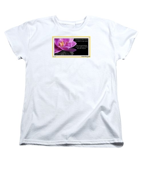 Women's T-Shirt (Standard Cut) featuring the digital art You Have To Let Go by Holley Jacobs