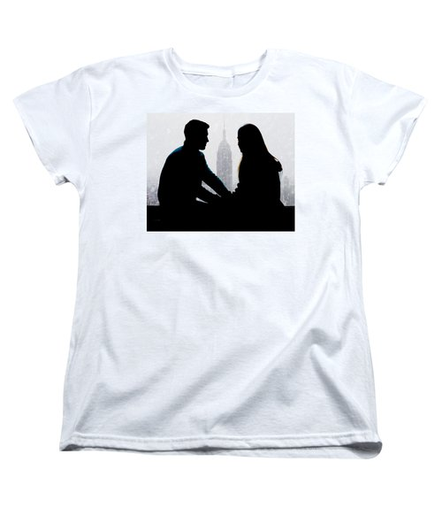 Women's T-Shirt (Standard Cut) featuring the photograph Young Love     by Chris Lord