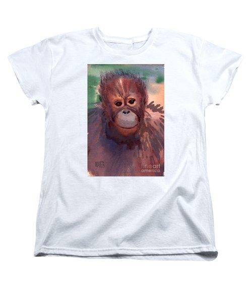 Young Orangutan Women's T-Shirt (Standard Cut) by Donald Maier
