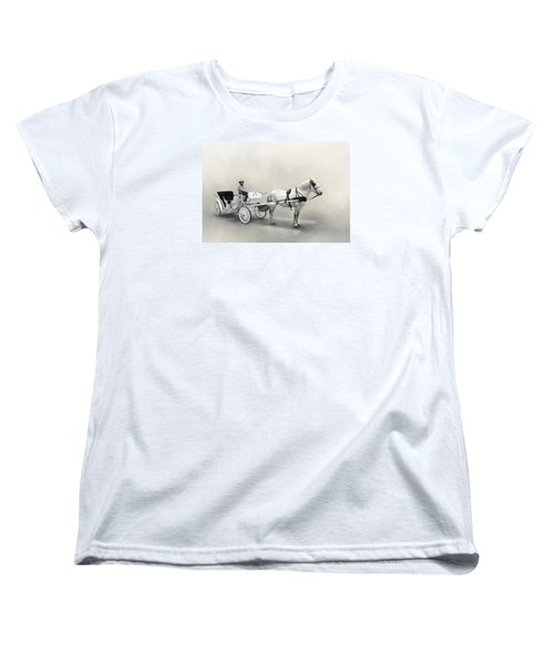 Your Carriage Awaits Women's T-Shirt (Standard Cut) by David and Carol Kelly