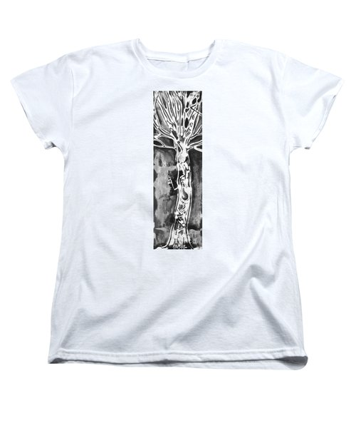 Women's T-Shirt (Standard Cut) featuring the painting Youth by Carol Rashawnna Williams