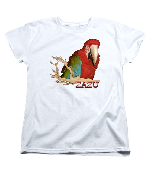 Zazu With Branch Women's T-Shirt (Standard Cut) by Zazu's House Parrot Sanctuary