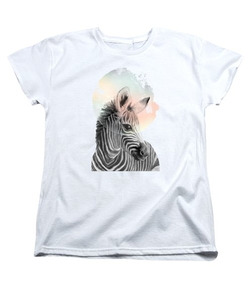 Zebra // Dreaming Women's T-Shirt (Standard Cut) by Amy Hamilton