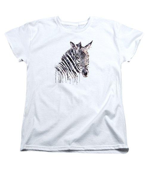 Zebra Head Women's T-Shirt (Standard Cut) by Marian Voicu