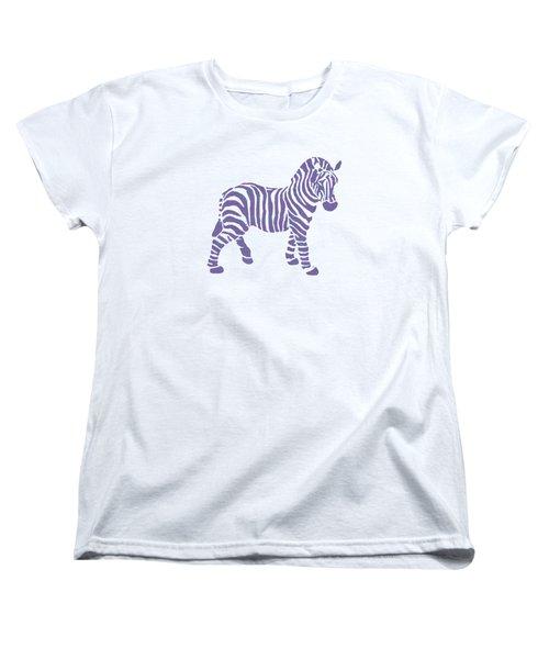 Zebra Stripes Pattern Women's T-Shirt (Standard Cut) by Christina Rollo