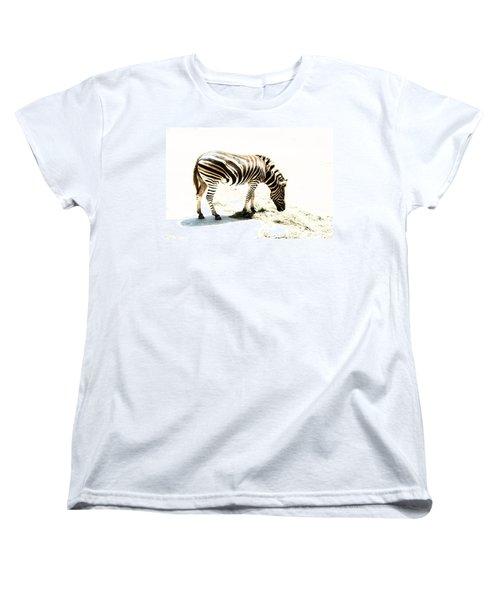 Women's T-Shirt (Standard Cut) featuring the photograph Zebra Stripes by Stephen Mitchell