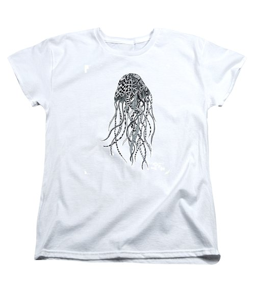 Women's T-Shirt (Standard Cut) featuring the drawing Zen Jellyfish by Tamyra Crossley