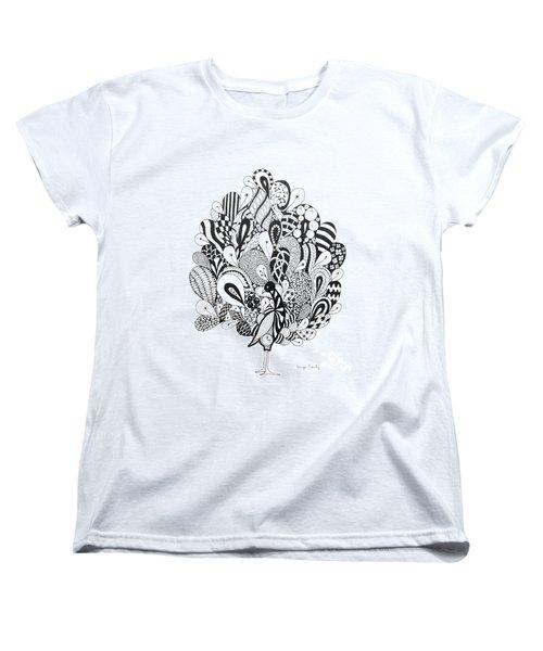 Zen Peacock Women's T-Shirt (Standard Cut)