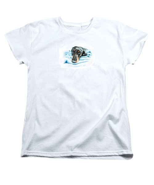 Women's T-Shirt (Standard Cut) featuring the drawing Zeus by Mike Ivey