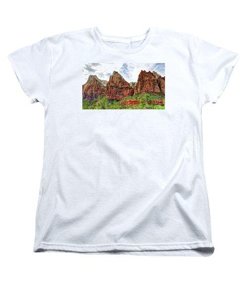 Zion N P # 41 - Court Of The Patriarchs Women's T-Shirt (Standard Cut)