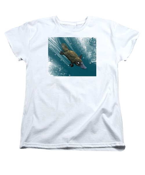 P Is For Platypus Women's T-Shirt (Standard Fit)