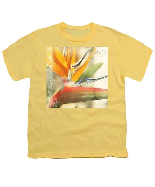 Bird Of Paradise - Strelitzea Reginae - Tropical Flowers Of Hawaii Youth T-Shirt by Sharon Mau